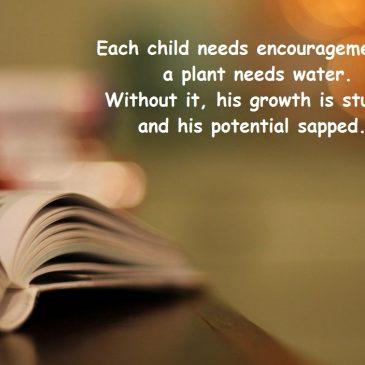 Each child needs…